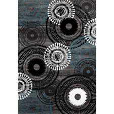 Area Rugs With Circles Contemporary Circles Gray Blue 2 Ft X 3 Ft Area Rug 119 Blugry