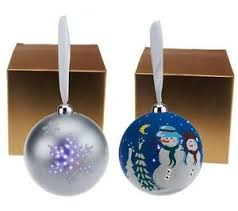 mr set of 2 led illuminated ornaments with gift boxes