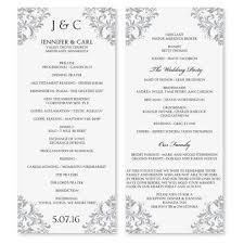 wedding ceremony programs exles wedding ceremony program fototails me