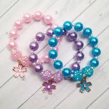 party favor bracelets 6 fairy flower charm bracelet fairy birthday party favor fairy
