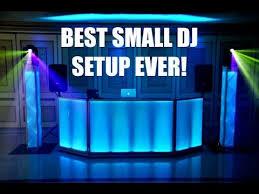 best dj lights 2017 best small dj setup ever youtube