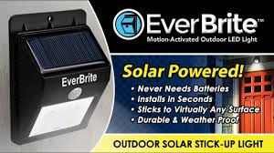 everbright solar light reviews everbrite motion activated solar powered led light youtube