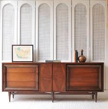 9 drawer walnut mid century credenza dresser tv stand buffet by