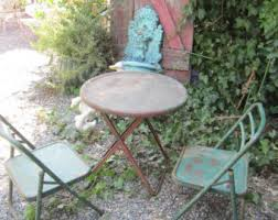 Vintage Bistro Table Metal Cafe Chair Etsy