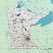 mn counties map minnesota