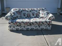 alan white sofa for sale obo alan white full sofa couch floral print near mint for sale in