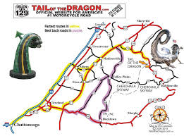 tail dragon maps motorcycle sportcar touring maps