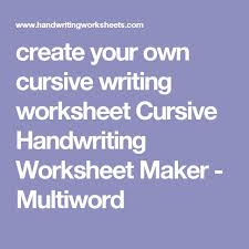 best 25 handwriting worksheet maker ideas on pinterest