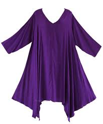 purple blouse plus size purple plus size solid basic flowy sleeve tank tunic