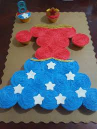 Wonder Woman Cupcake Dress Candy Cakes And Food Pinterest