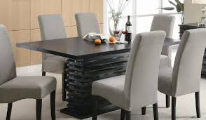 Coaster Dining Room Sets Stanton Contemporary 7 Pc Black And Gray Dining Table Set By
