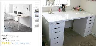 ikea alex desk drawer easy ikea alex table top desk hack