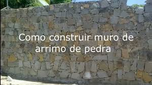 New Como fazer Muro de Arrimo de pedra - Faça você / Pedreiro  &BX83