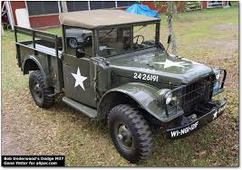 old military jeep truck leo underwood s vintage dodge and willys military trucks