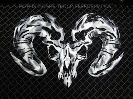 custom dodge ram badges ram skull airbrushed