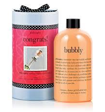 congrats bubbly shampoo bath and shower gel philosophy