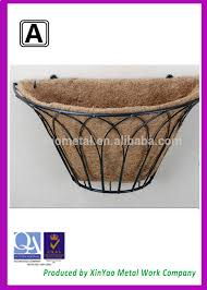 Wrought Iron Wall Planters by Decorative Metal Wall Basket Wall Planters Wrought Iron Wall