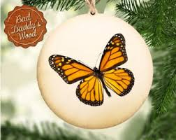 butterfly ornament etsy
