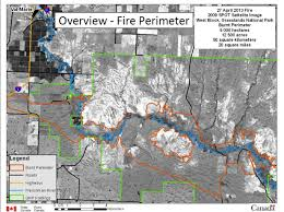 Jasper National Park Canada Map by A Large Wildfire Burns Through The Grasslands National Park