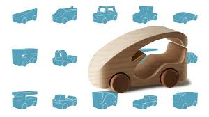 100 wooden toy cars from 100 designers and you can make your own