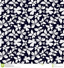 butterflies pattern black and white stock vector illustration of