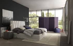 modern bedroom design with awesome black painted wall and laminate