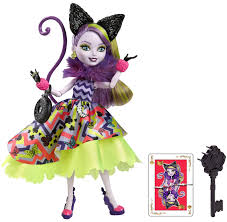 Monster High Halloween Costumes Target Amazon Com Ever After High Way Too Wonderland Kitty Chesire Doll