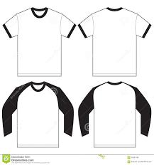 t shirt design template black white ringer t shirt design template stock vector image