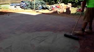 Patio Paver Jointing Sand by Ryan U0027s Landscaping Shows How To Brush Polymeric Sand Into A Paver