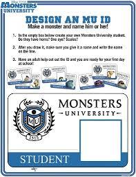 monsters university free printables u0026 activity sheets kids