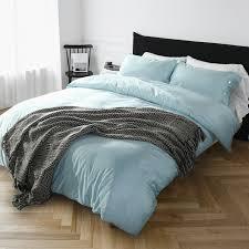 Solid Colored Comforters Light Blue Bed Set King 7pc Andrea Light Blue Luxury Bedding Set