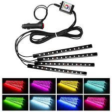 app controlled car lights 4pcs 10w car atmosphere light app control multi color interior led