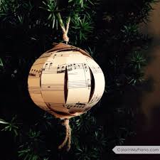 sheet ornament gift idea for piano students