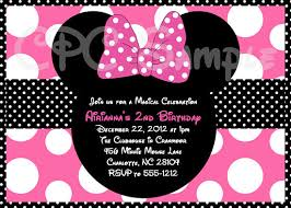 personalized minnie mouse birthday invitations custom minnie mouse
