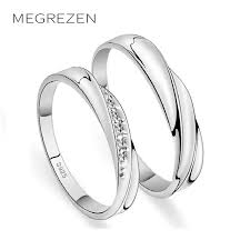 engagement rings for couples aliexpress buy megrezen couples engagement rings silver