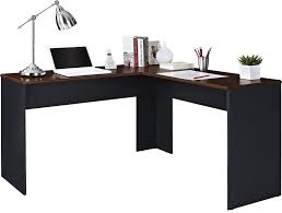 Modern Workstation Desk by Amazon Com Ameriwood Home The Works L Shaped Desk Cherry Gray