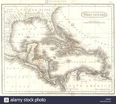 Map Of West Indies Map Of The West Indies 1763 Central America Caribbean Political