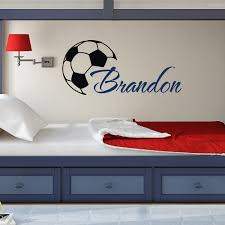popular diy name wallpaper for kids room buy cheap custome boys name wall decals with soccer art stickers personalized home kids room decor vinyl