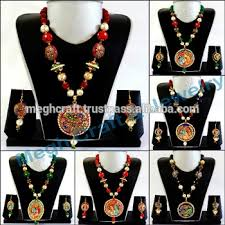 indian bead jewelry necklace images Indo western jewelry south indian tanjore art pendant set jpg