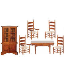 Dollhouse Dining Room Furniture 1 Inch Scale Miniature Dollhouse Dining Room Furniture And Dining