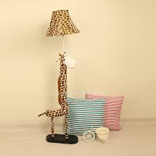 Giraffe Shaped Kids Room Floor Lamps 496 H Fabric Shade Pertaining