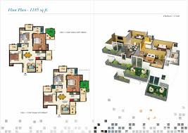 The O2 Floor Plan by Amrapali O2 Valley Amrapali O2 Valley Noida Extension