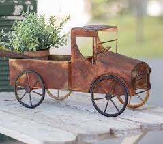rusty pickup truck rusty pickup truck planter the chic farmhouse