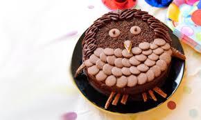 owl cake chocolate owl birthday cake recipe kidspot