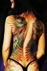 beautiful green orange winged back wings back
