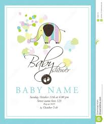 baby shower cards baby shower card stock vector illustration of design 17825175