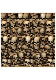 halloween skeletons decorations wall of skulls catacombs backdrop scary decorations halloween