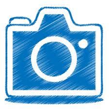 blue sketch camera icon png clipart image iconbug com