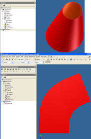 free download cone layout software flat pattern of eccentric cone autodesk community inventor