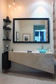 Powder Room With Pedestal Sink Corner Pedestal Sink Powder Room Contemporary With Stone Stone